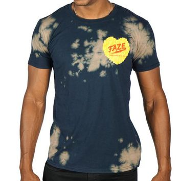 FAZE With Love Tee in bleached navy