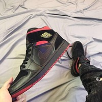 air jordan 1 retro mid last shot black red yellow sneaker online