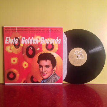 ELVIS Golden Records Hound Dog Jailhouse Rock Vinyl Record LP 1958 50th Anniversary Re Rock Pop Rockabilly Blues Near Mint Condition Vintage