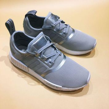 LNFNO Adidas NMD R1 Boost Silver Reflective Fashion Trending Running Sports Shoes Sneakers (