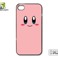 Kirby Cute Face iPhone 4 Case Cover by Avallen