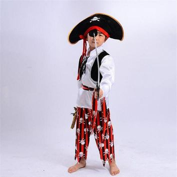 DCCKH6B Halloween Child Pirate Performance Cosplay Party Christmas New Year's Day Costumes