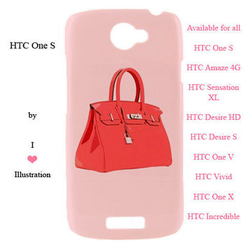 HTC Case - Cute Birkin Bag Fashion Design - available for htc one s, htc amaze 4 g,htc sensation xl, htc desire hd, htc desire s and more