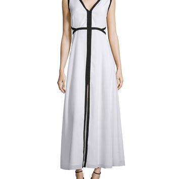 Sleeveless A-Line Maxi Dress W/