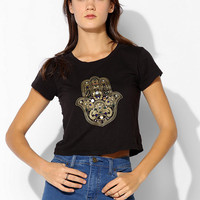 Truly Madly Deeply Embellished Hamsa Fitted Tee - Urban Outfitters