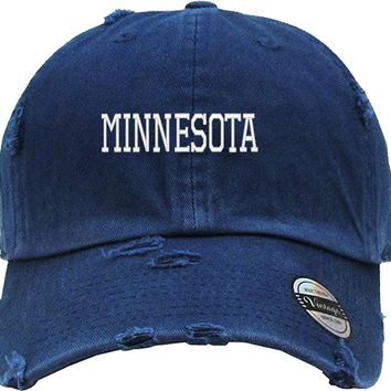 minnesota Distressed Baseball Hat