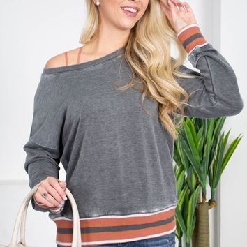 Dear John Jersey Grey Top