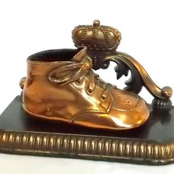Bronzed Baby Shoe by Alice Ames of Boston Mass
