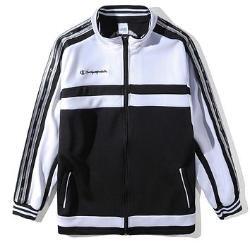 Champion Woman Men Fashion Stripe Cardigan Jacket Coat