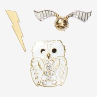 Harry Potter Hedwig Enamel Pin Set - BoxLunch Exclusive