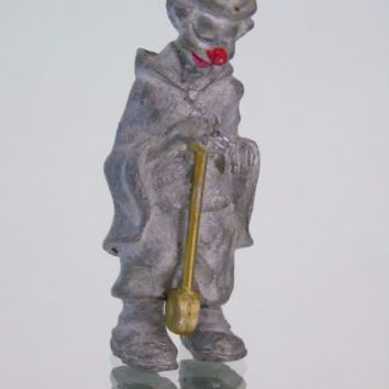 Clown Miniature Pewter Figurine Red Nose Golfer BAC
