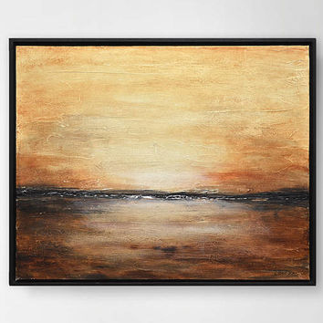 Original landscape abstract painting textured art modern oil painting abstract landscape art design by L.Beiboer