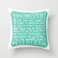 Along Comes Spring - Handwritten Poem Throw Pillow by Misty Diller of Misty Michelle Design | Society6