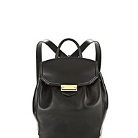 Alexander Wang - Black Prisma Skeletal Backpack In Shiny Black With Yellow Gold