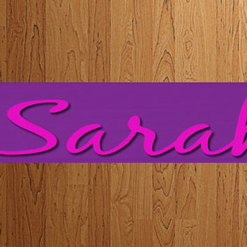 Name Sign Custom Painted Wood  Board Plaque Eiffel Tower Personalized Letters  - Birthday Gift - Decor