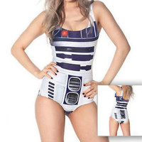 R2-D2 [Star Wars] Ladies Swimsuit Swimming Costume Swimwear