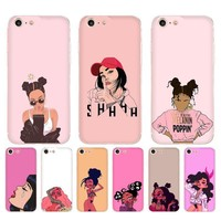 Cartoon honeys soft case for iPhone