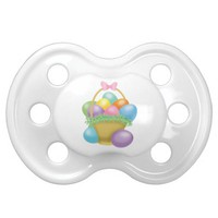 Easter Basket with Easter Eggs Baby Binkie Pacifier