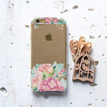 Spring Flowers iPhone 6s Case Samsung Galaxy S5 Case iPhone 6 Clear Case Floral iPhone 5 Case iPhone 6 Cover Cute Protective iPhone Case 074