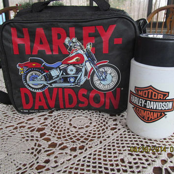 Harley Davidson Lunch Box and Thermos Harley Davidson Collectible