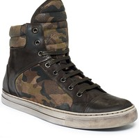 Kenneth Cole Double Header Camo Hi-Top Sneakers