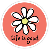 'Life is Good Tinted Red' Sticker by jennaannx11