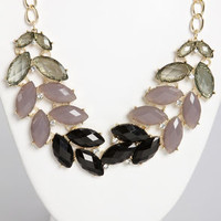 Nifty Shades of Grey Rhinestone Necklace