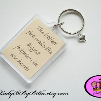 New Baby Keyring Quotes - Handmade