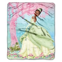 Disney, Princess and the Frog, Pink Vines 46-Inch-by-60-Inch Micro-Raschel Blanket by The Northwest Company