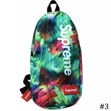 Supreme 2018 new multi-function canvas chest bag shoulder messenger pockets #3