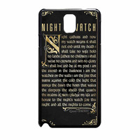 Game Of Thrones Nights Watch Samsung Galaxy Note 3 Case