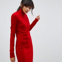 Boohoo Roll Neck Sweater Dress at asos.com