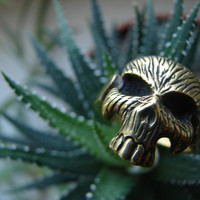 Biker human skull ring, statement ring skull, gothic skull ring, gift for him, gift for her