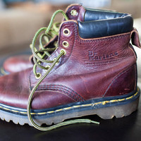 Vintage Dr. Marten Boots, Size UK 4, Women's Size 6 Doc Martens Brown Leather Boots, 90s Ladies Leather Boots