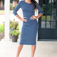 Lovely Day Dress - Navy