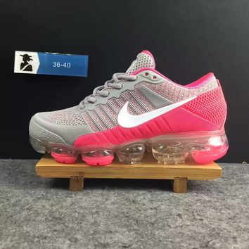 2018 Nike Air VaporMax cdg Airmax Gray/Pink Women Shoe US5.5-8.5