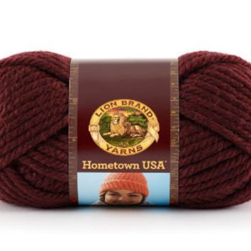 Yarn, Napa Pinot, Lion Brand Hometown USA Yarn, Crochet Yarn, Knitting Yarn, Acrylic Yarn, Bulky Weight