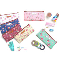 Wanna This Pour vous flower pattern slim pencil case