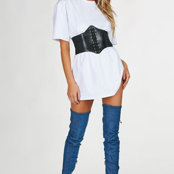 White Out T-Shirt Dress