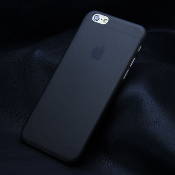 Black Ultra-thin 0.3mm Matte Transparent Protective Back Case Shell Cover For iPhone 4 4S 5 5S 5C SE 6 6s 6 Plus 6s Plus 7 7 Plus