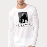 Sam Smith - Lonely Hour Tour Long Sleeved , Men Shirt, White Shirt By. Wahyu