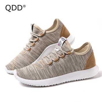 QDD Classic Designation Men Running Shoes Trendy Men Running Shoes Lightweight Sports Fly Knitting Running Sneakers for Men.