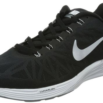 Nike Men's Lunarglide 6 Black/White/Pr Platinum/Cl Gry Running Shoe