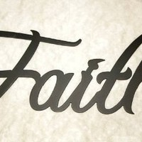 Faith Word Decorative Metal Wall Art
