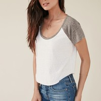Me To We Round About Short Sleeve Raglan T-Shirt - Womens Tee