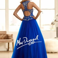 Mac Duggal 48258H Jeweled Ball Gown Prom Dress $410