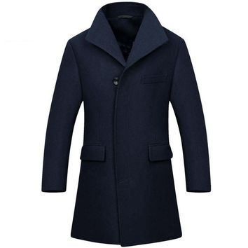 Tailor-made Wool Long Man Long trench coat wool coat Winter peacoat Men's wool Coat mens overcoat men's coats male clothing