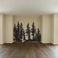 Pine Trees Vinyl Wall Decal Sticker Graphic