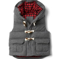 Quilted toggle hoodie vest | Gap