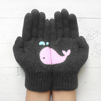 Christmas Gift, Whale, Gray, Grey, Pink, Special Gift, Fun, Xmas Gift, Holiday Gift, Gift For Women, Animal Lovers, Unique Gift, Dark Grey